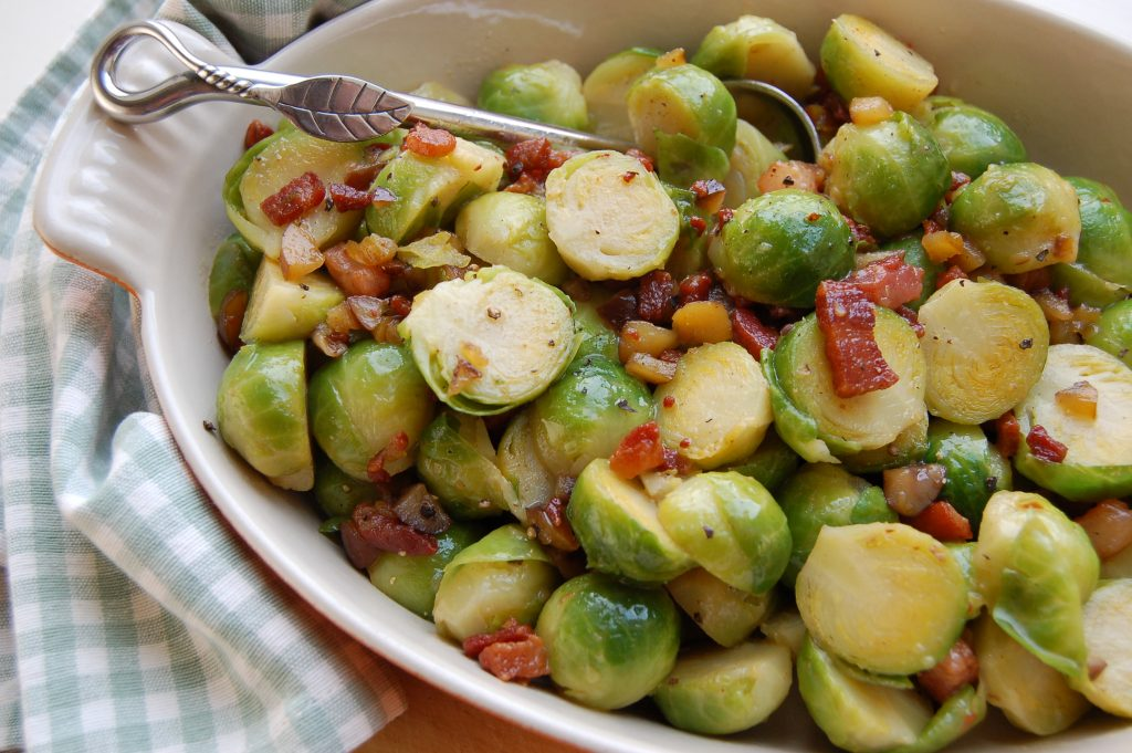 Sprouts with bacon & chestnuts