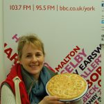 Julia Lewis samples my pie!