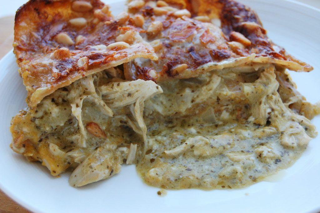 7 Squash and chicken lasagne