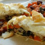 Winter veg filo pasty
