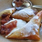 Apple compote samosas