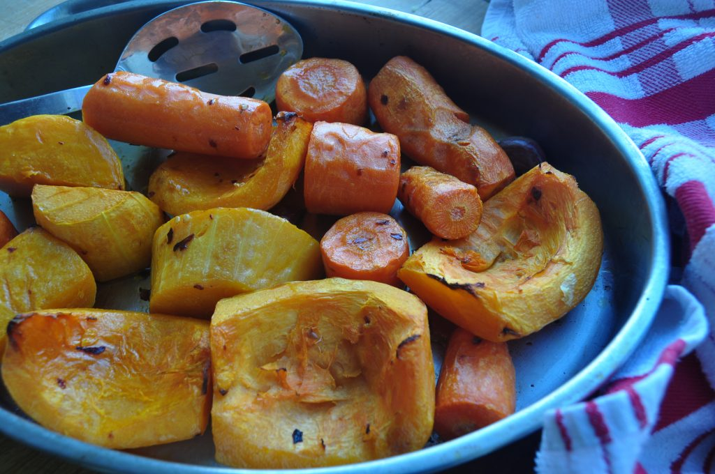 Roast the squash and carrot - soup