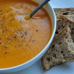Roasted butternut squash & carrot soup