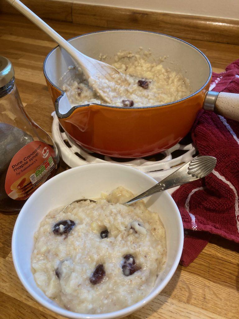 Bramley apple porridge - web